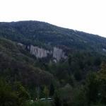 Panoramica delle Piramidi da valle